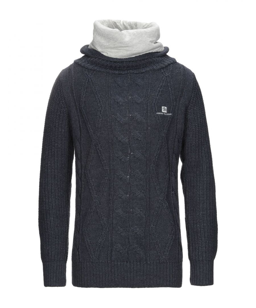 Image for Pierre Balmain Dark Blue Wool Knit Jumper