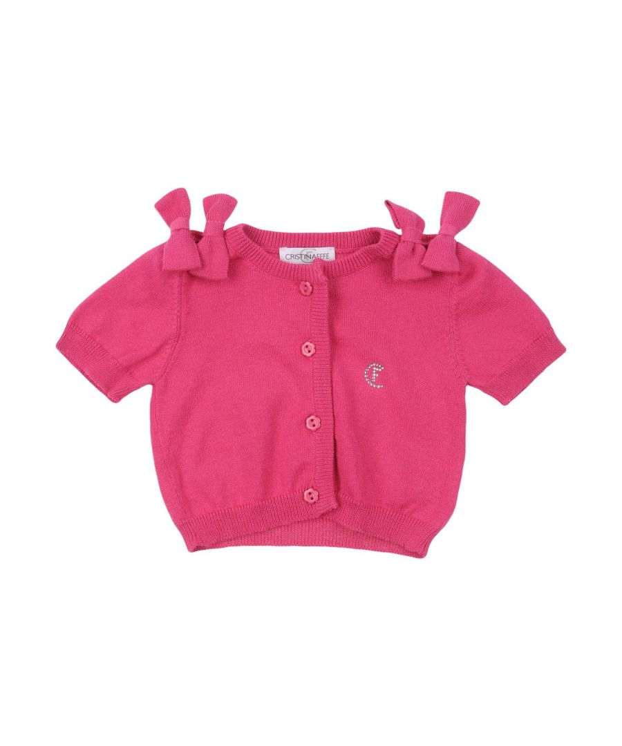 Image for Cristinaeffe Fuchsia Girl Cotton Cardigan