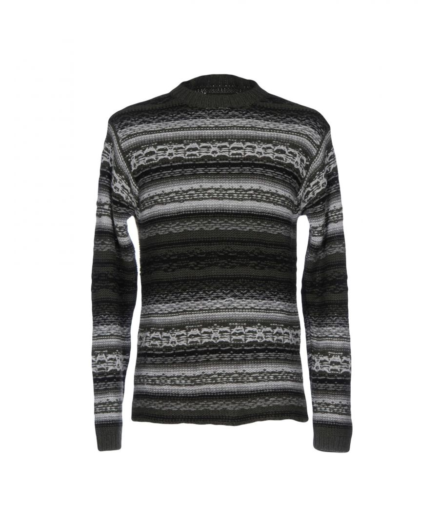 Image for Meltin Pot Military Green Stripe Knit Wool Jumper