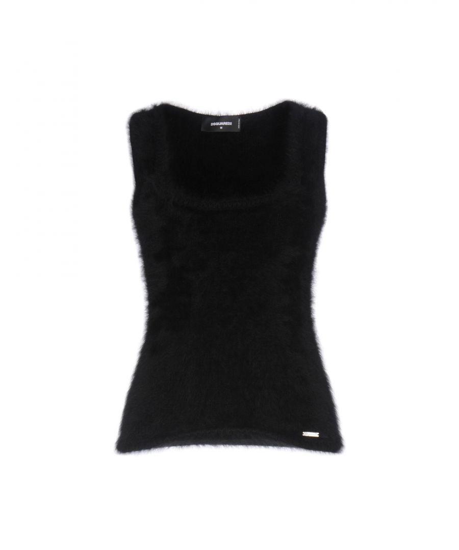 Image for Dsquared2 Black Angora Sleeveless Knit