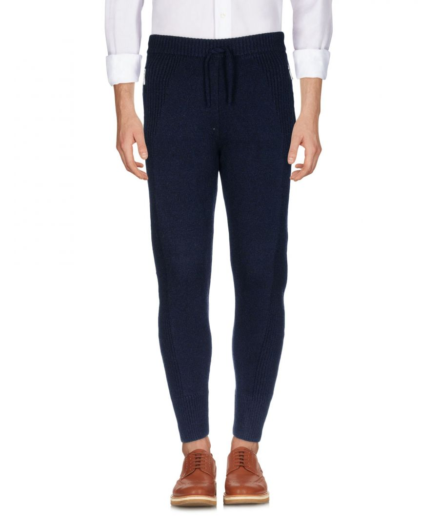 Image for Dsquared2 Dark Blue Wool Tapered Leg Trousers