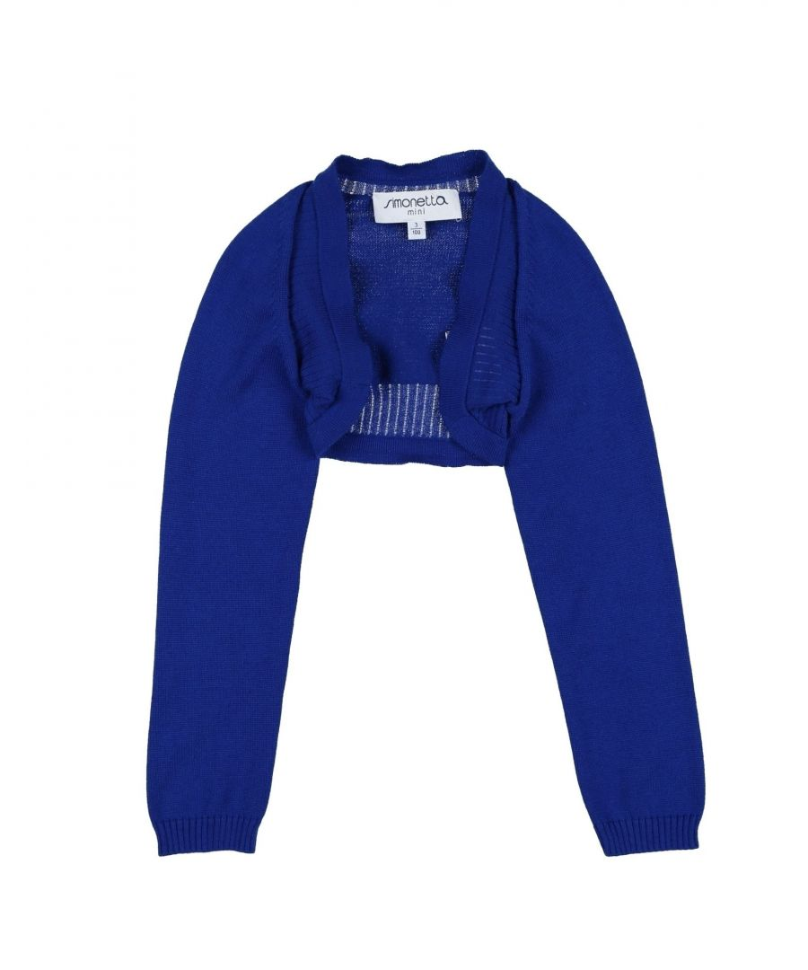 Image for KNITWEAR Girl Simonetta Blue Cotton