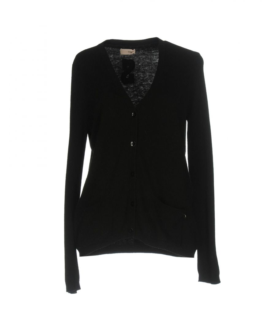 Image for Scee By Twinset Black Wool Cardigan