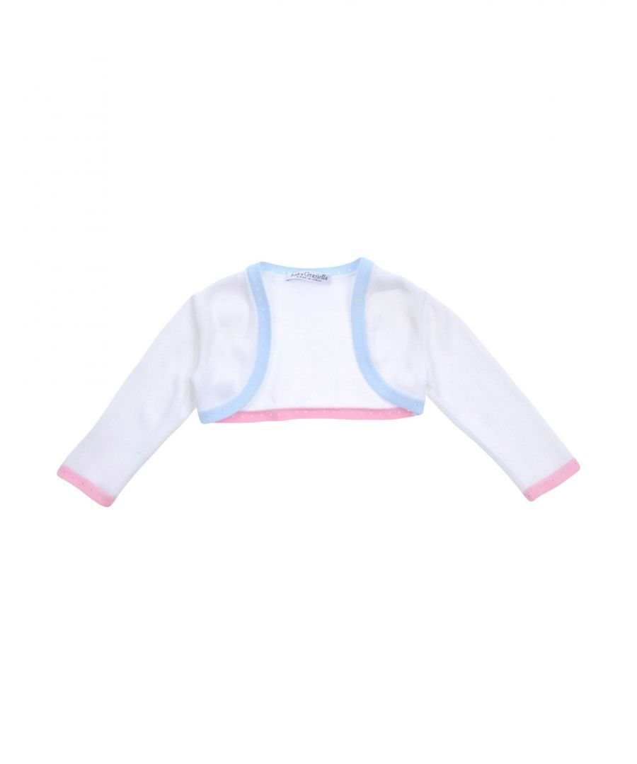 Image for KNITWEAR Baby Graziella White Girl Cotton