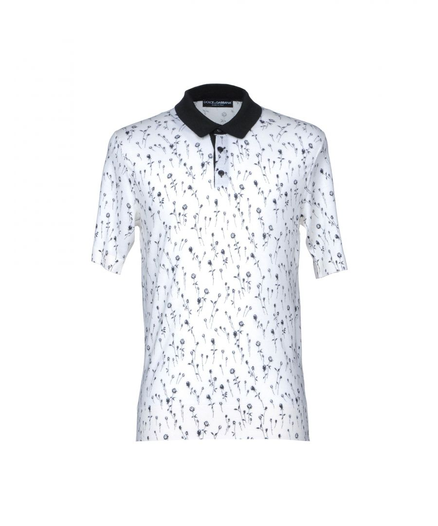 Image for Dolce & Gabbana Ivory Cashmere Knit Polo Shirt