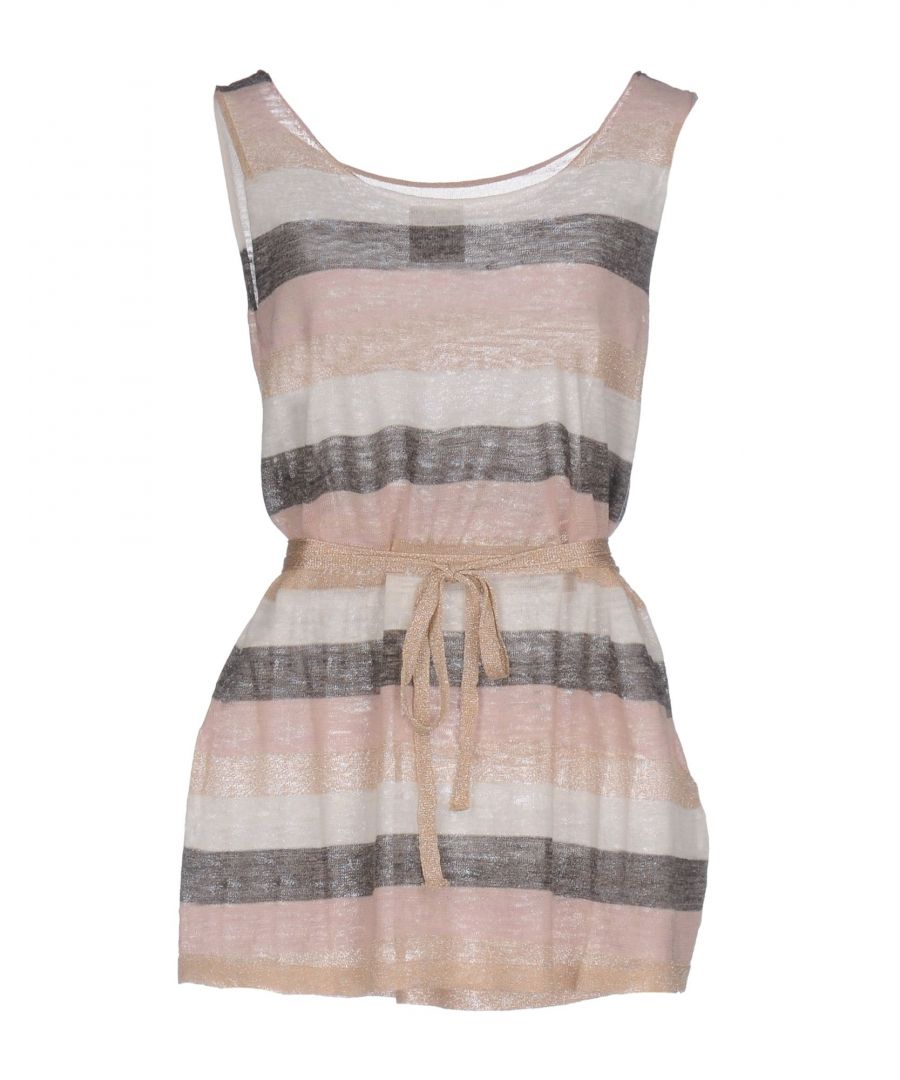 Image for Twin-Set Jeans Pink Stripe Lame Knit Tank