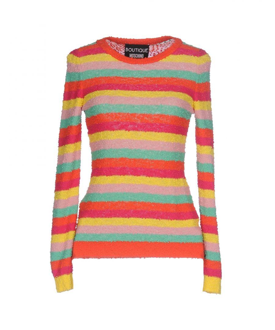 Image for Boutique Moschino Orange Stripe Cotton Jumper