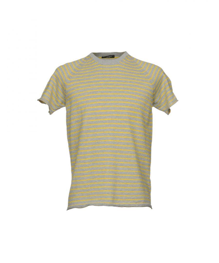 Image for Roberto Collina Grey Stripe Cotton Knit T-Shirt