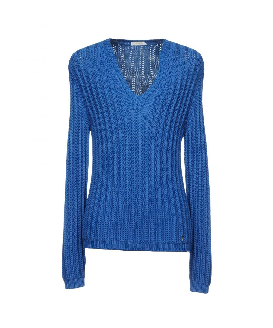 Image for Versace Collection Azure Knit V-Neck Jumper