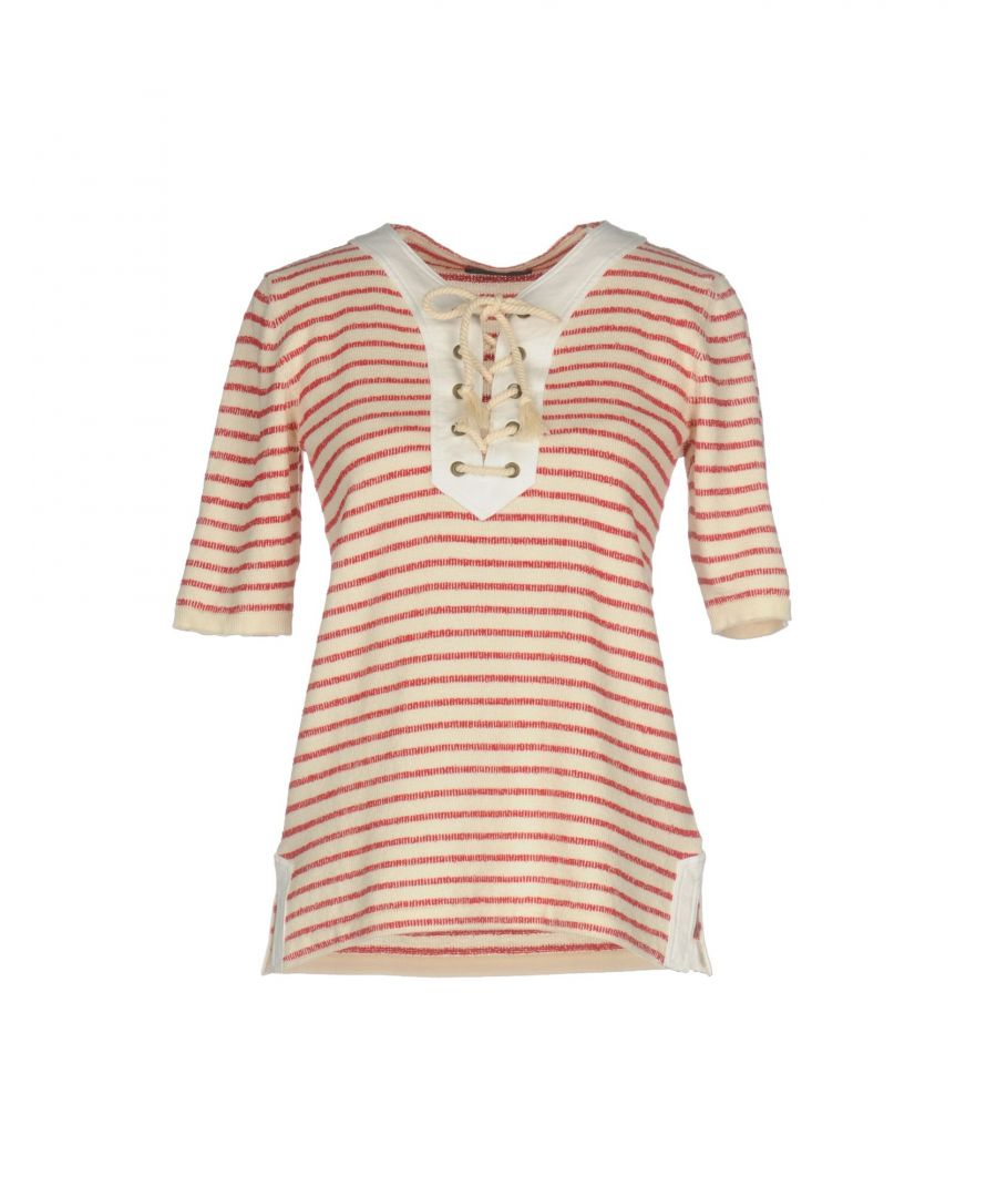Image for Roberto Collina Red Stripe Cotton Short Sleeve Knit