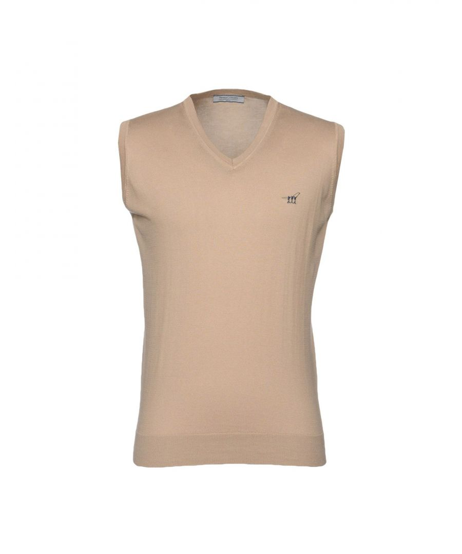 Image for Henry Cotton's Beige Cotton Knit Tank