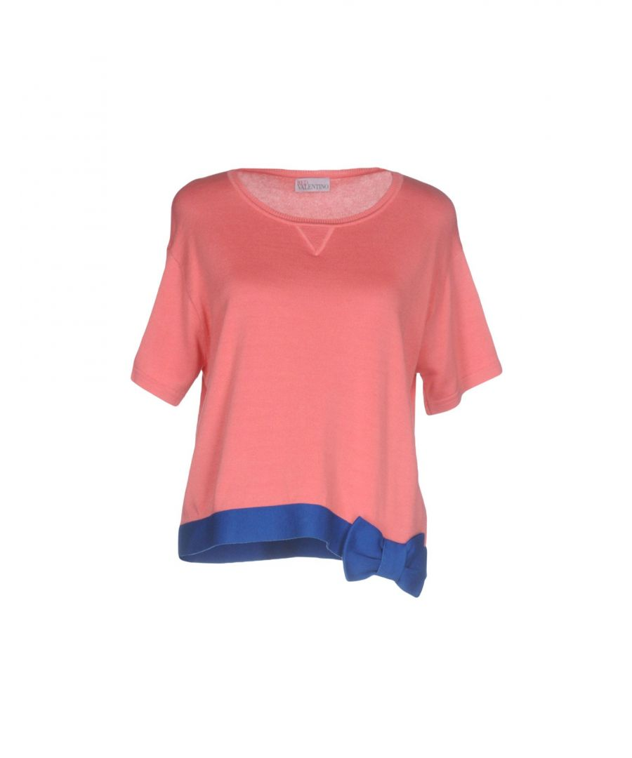 Image for Redvalentino Pink Cotton Knit T-Shirt