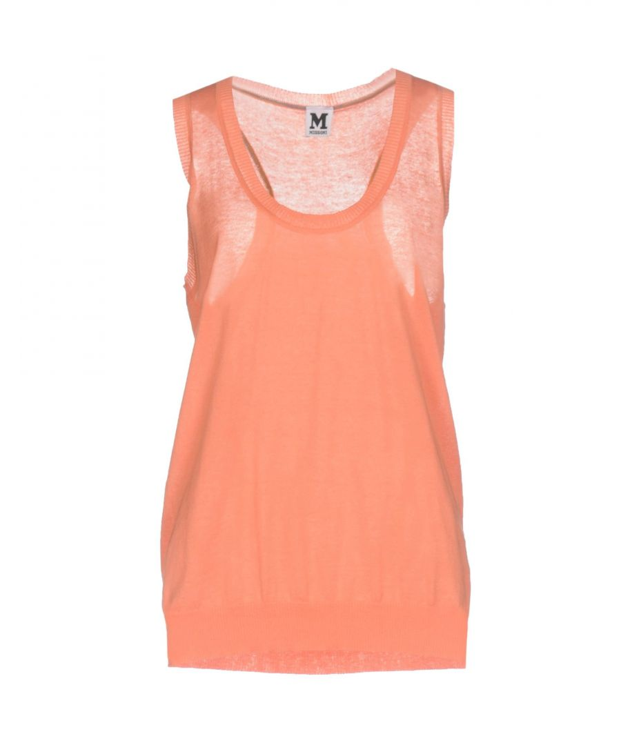 Image for M Missoni Salmon Pink Cotton Lightweight Knit Tank