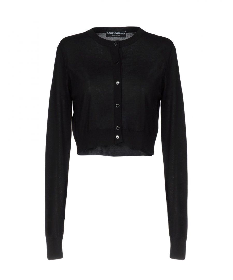 Image for Dolce & Gabbana Black Silk Knit Cardigan