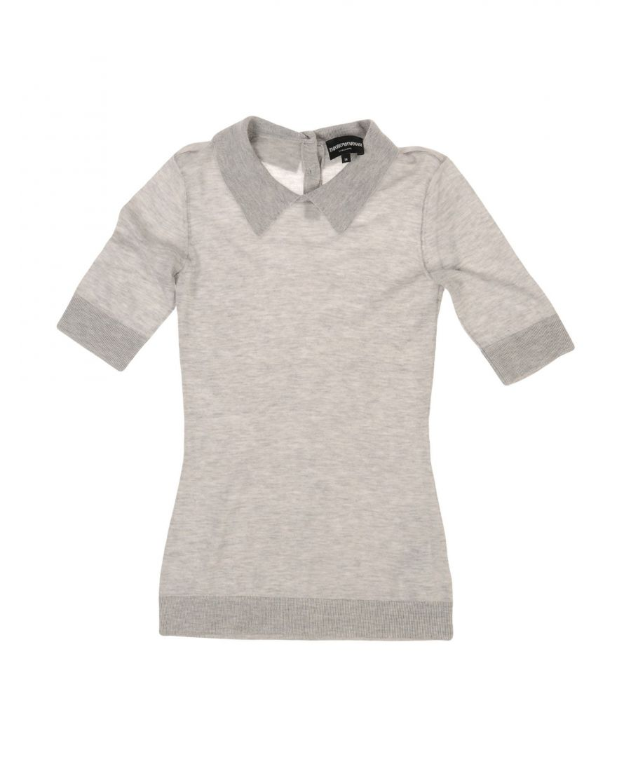 Image for Emporio Armani Light Grey Cashmere Knit