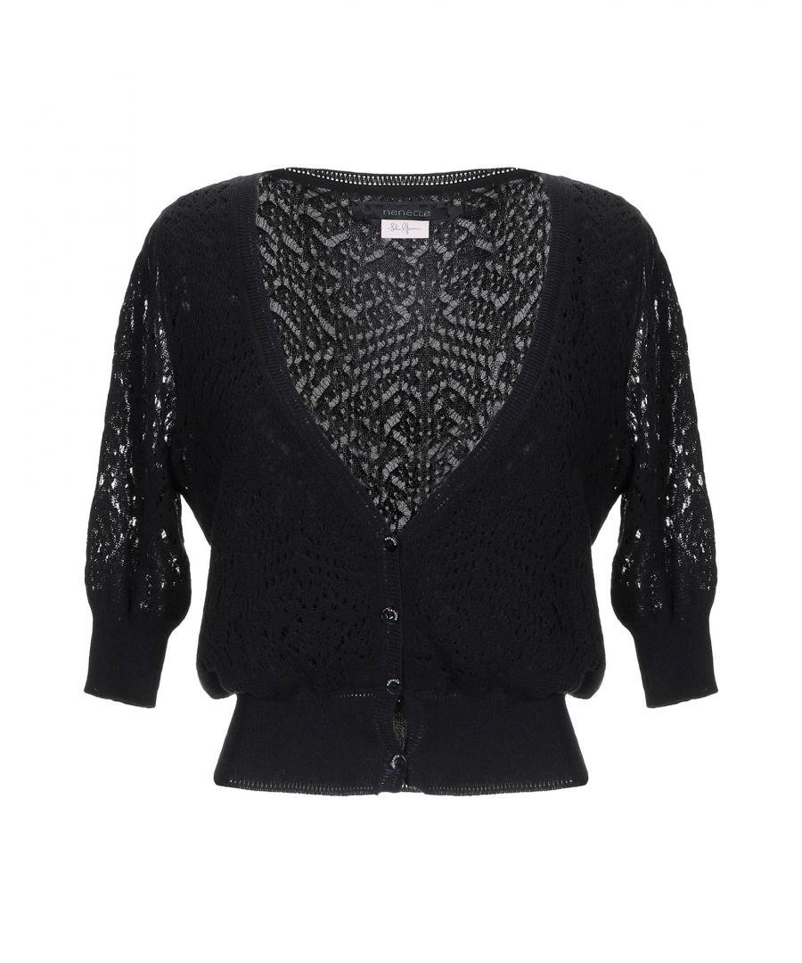 Image for Nenette Woman Wrap cardigans Black Cotton