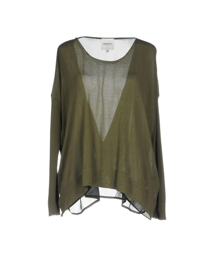Image for Annarita N Twenty 4H Military Green Lightweight Knit