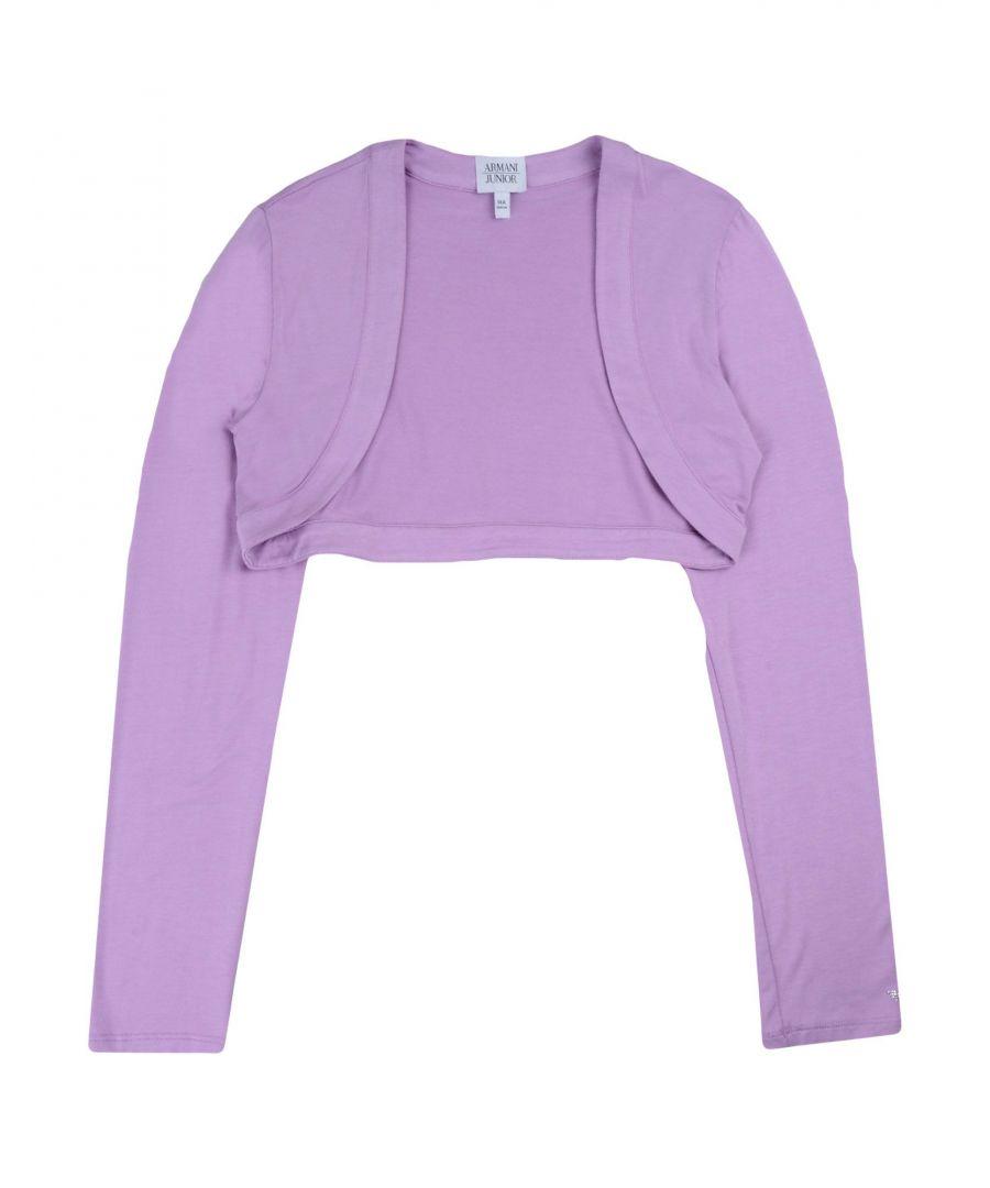 Image for Armani Junior Lilac Girl Cardigan