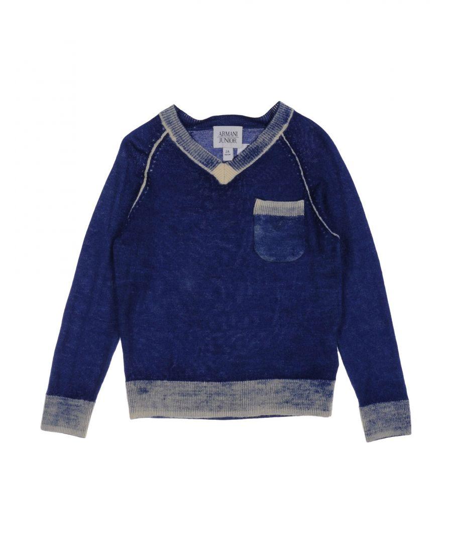 Image for KNITWEAR Armani Junior Blue Boy Wool
