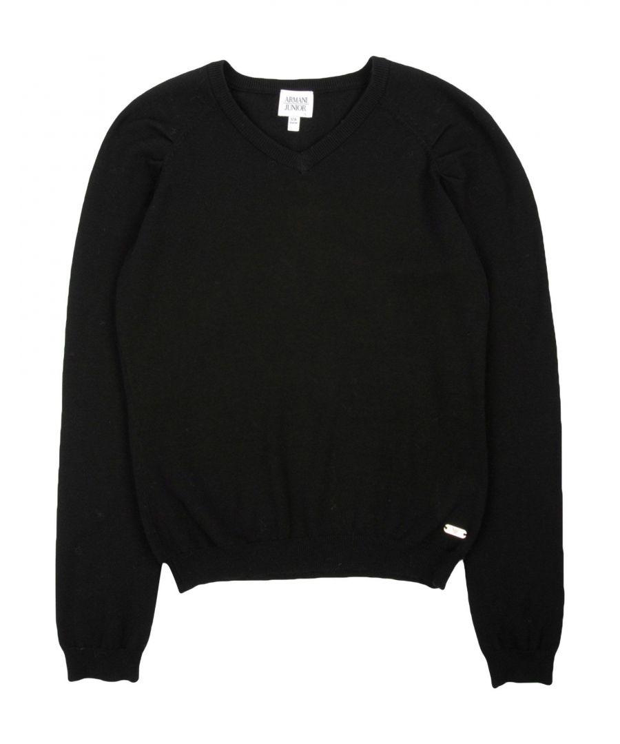 Image for KNITWEAR Armani Junior Black Girl Cotton