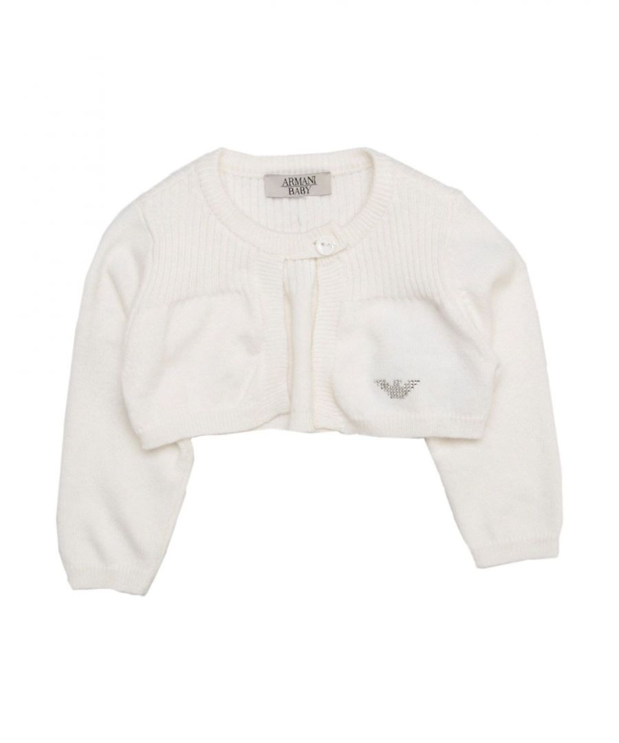 Image for KNITWEAR Armani Junior White Girl Cotton