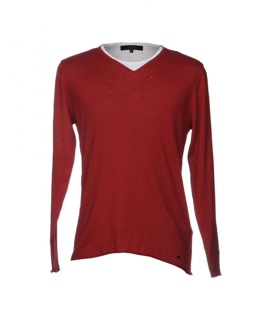 Image for Liu Jo Man Maroon Cotton Knit Jumper
