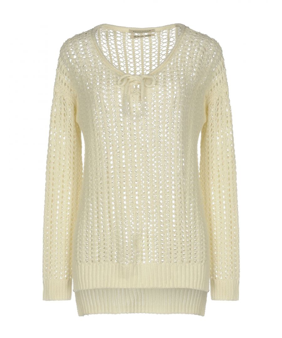Image for Maison Scotch Ivory Cotton Lightweight Knit Jumper