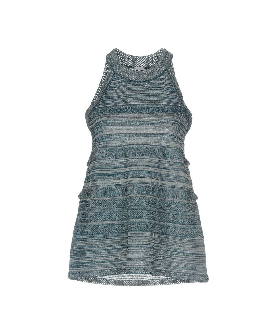 Image for M Missoni Slate Blue Stripe Sleeveless Knit Tank