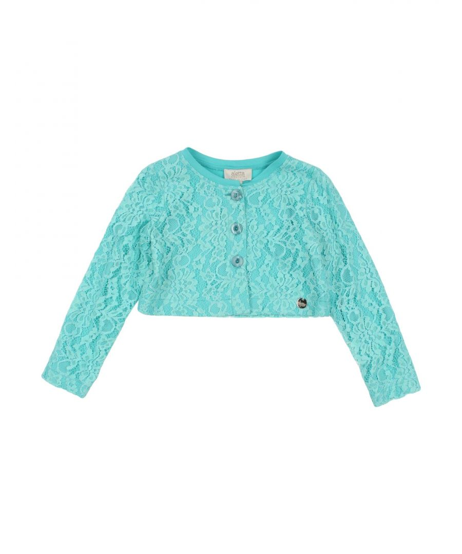Image for Aletta Turquoise Girls Cardigan