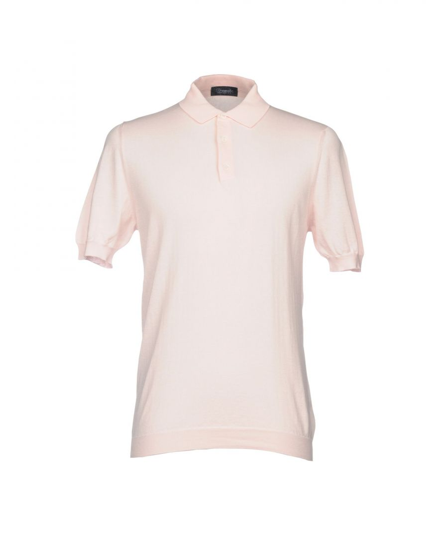 Image for Drumohr Light Pink Cotton Knit Polo Shirt