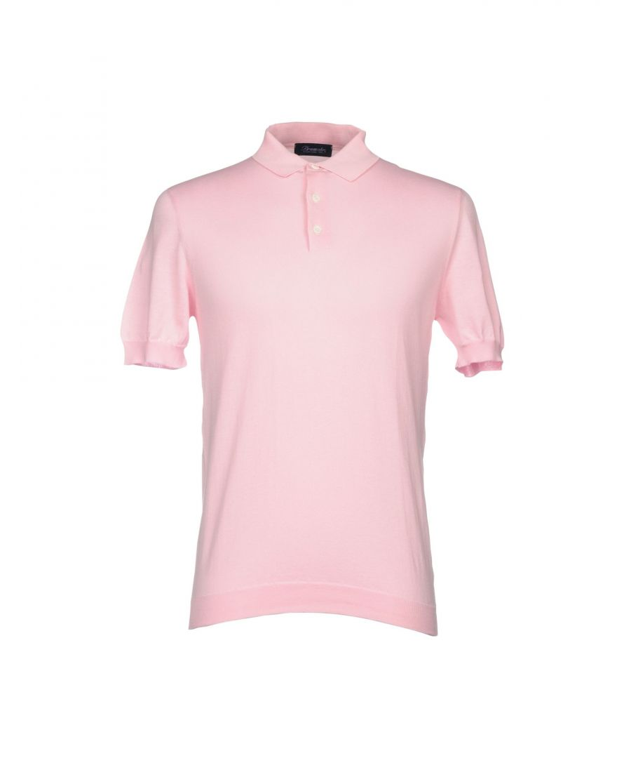 Image for Drumohr Pink Cotton Knit Polo Shirt