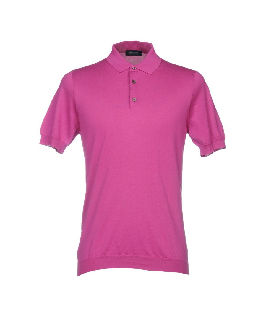 Image for Drumohr Mauve Cotton Knit Polo Shirt