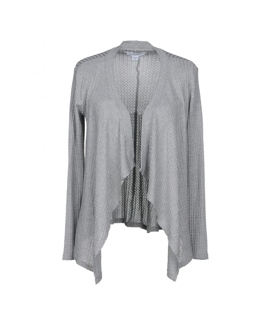 Image for Velvet By Graham & Spencer Grey Knit Waterfall Cardigan