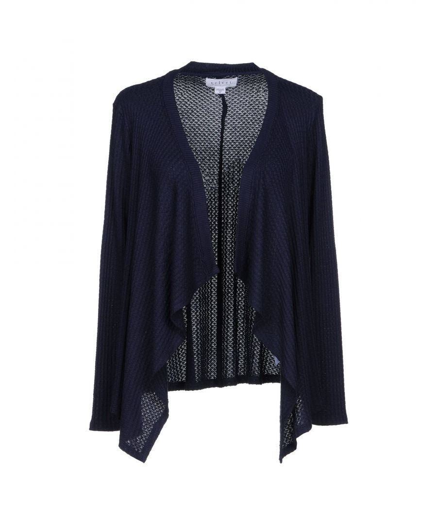 Image for Velvet By Graham & Spencer Navy Knit Wrap Cardigan