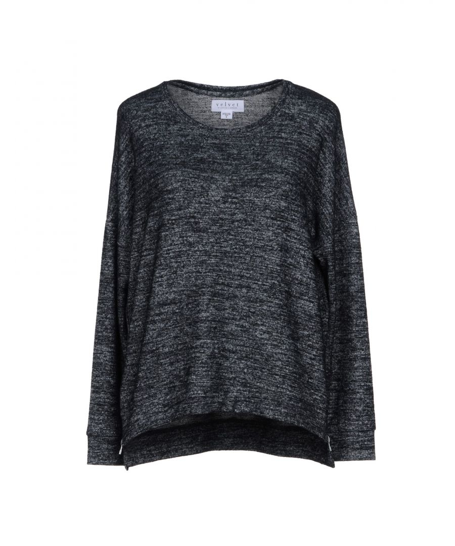 Image for Velvet By Graham & Spencer Grey Lightweight Knit Jumper