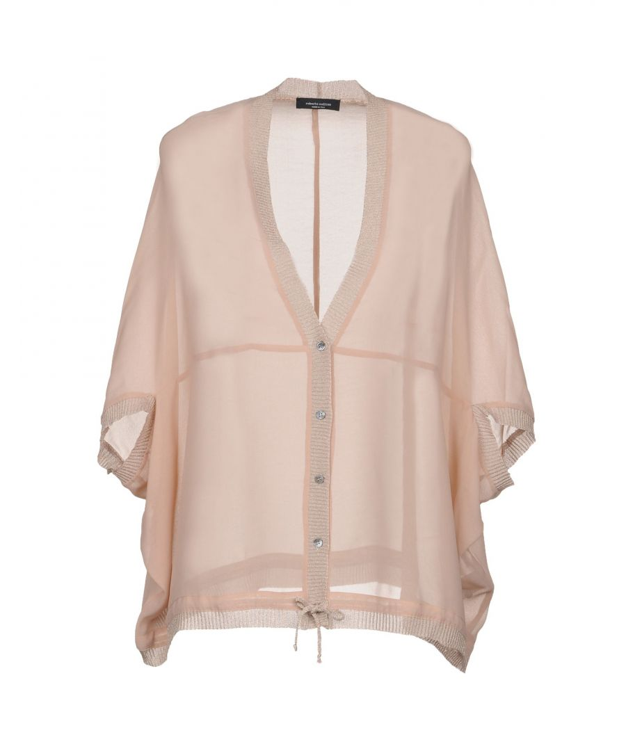Image for Roberto Collina Pale Pink Lightweight Knit Cardigan