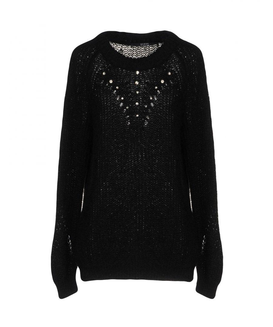 Image for Guess Black Embellished Knit Jumper