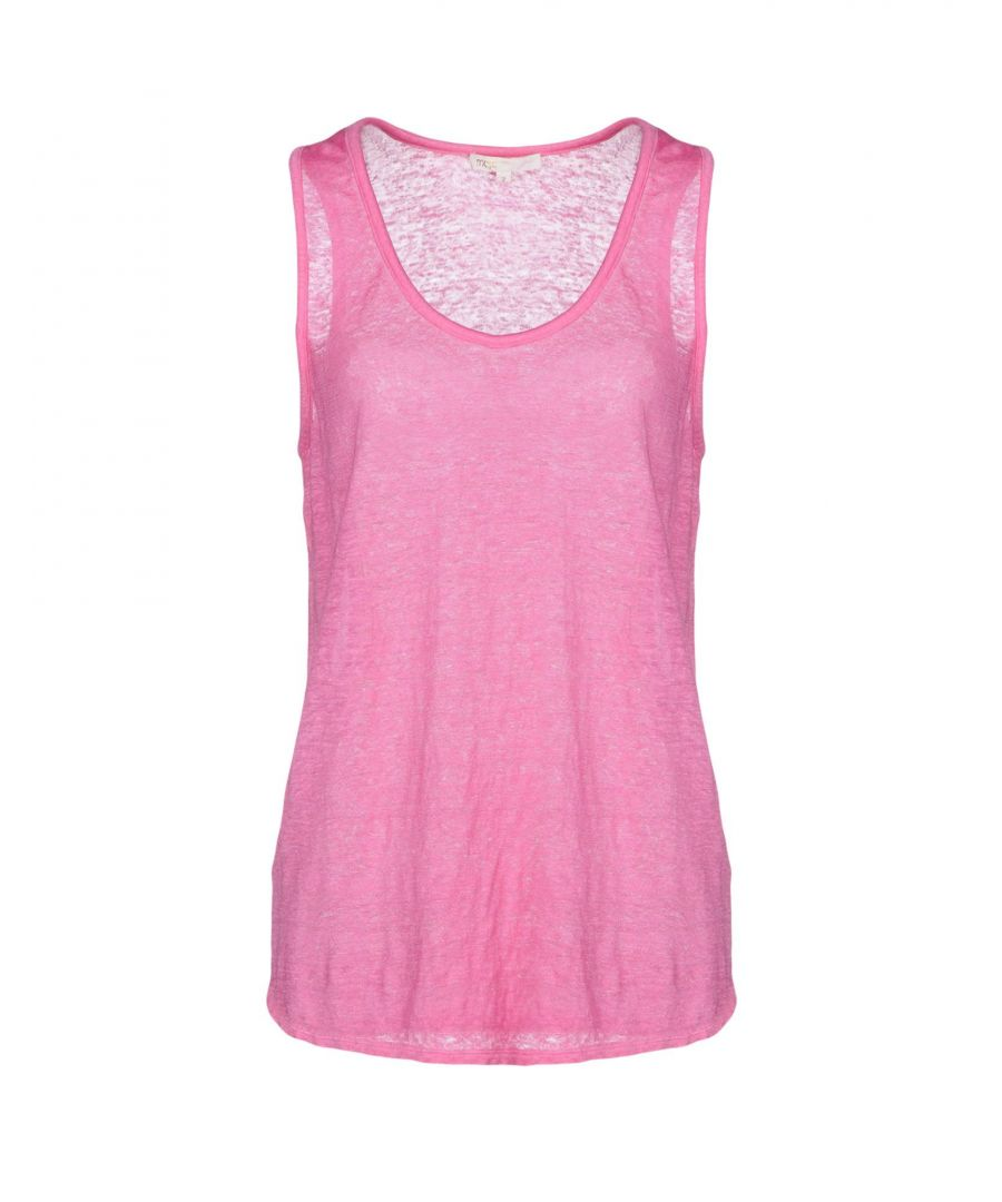 Image for Maje Pink Linen Knit Tank
