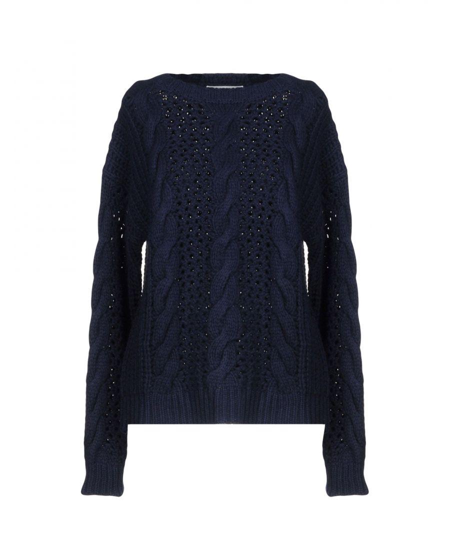 Image for Sandro Dark Blue Wool Jumper
