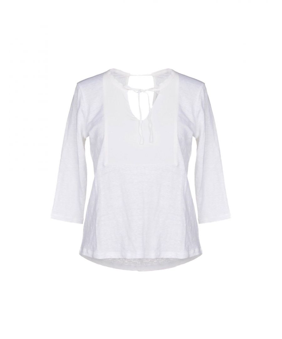 Image for TOPWEAR Sandro White Woman Linen