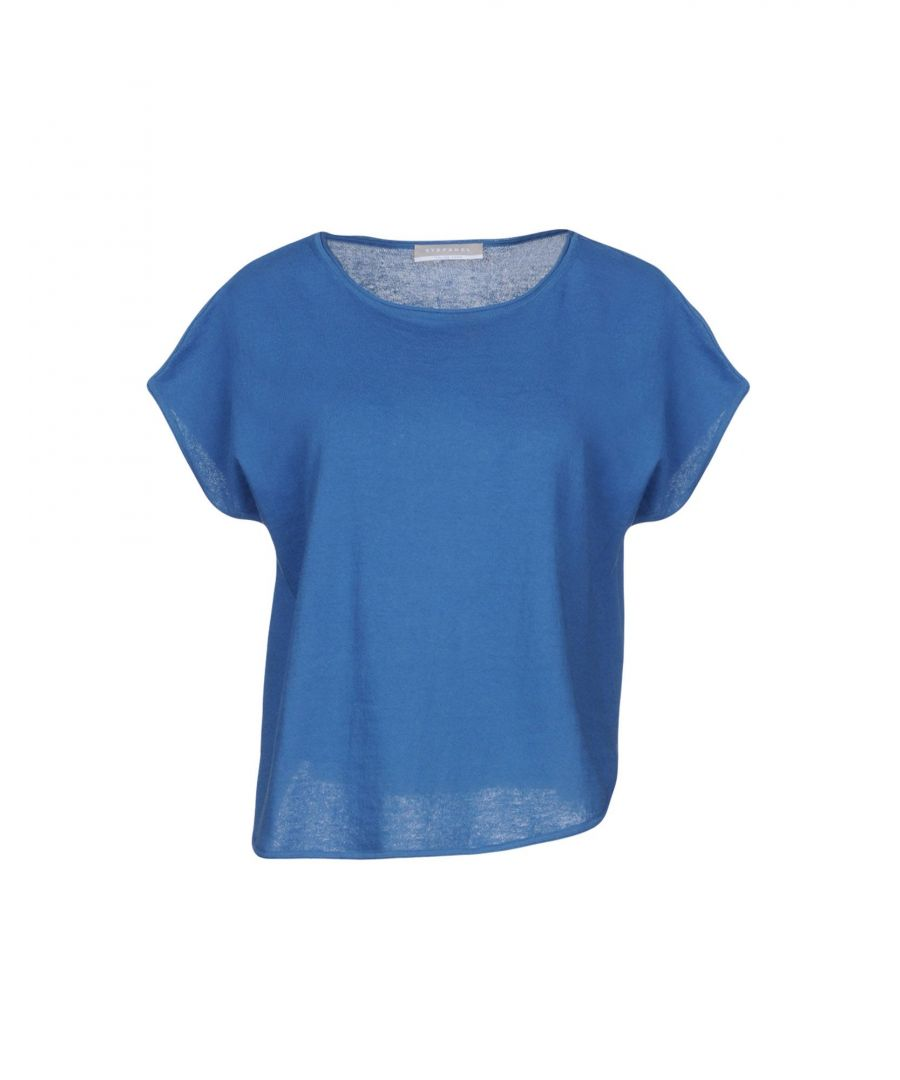 Image for Stefanel Blue Cotton Short Sleeve Knit
