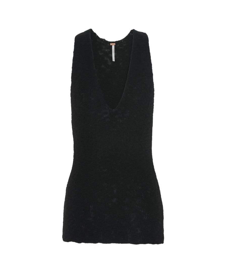 Image for Free People Black Knit Tank