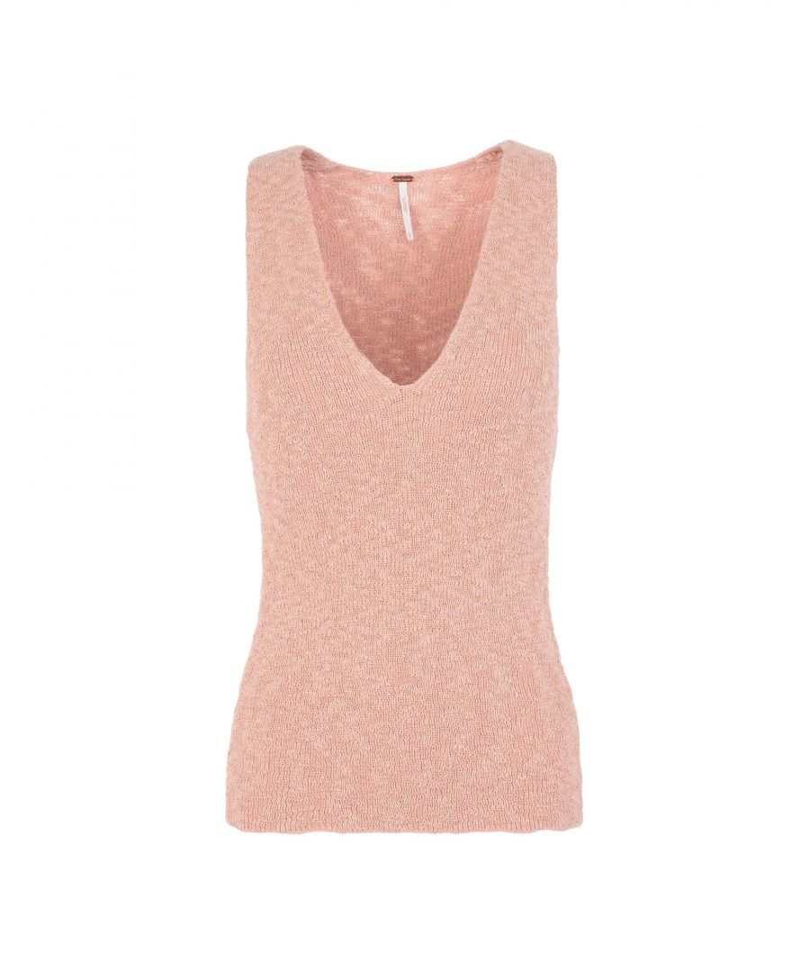Image for Free People Pale Pink Knit Tank
