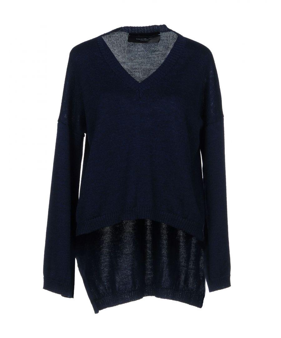 Image for Federica Tosi Dark Blue Virgin Wool Knit Jumper
