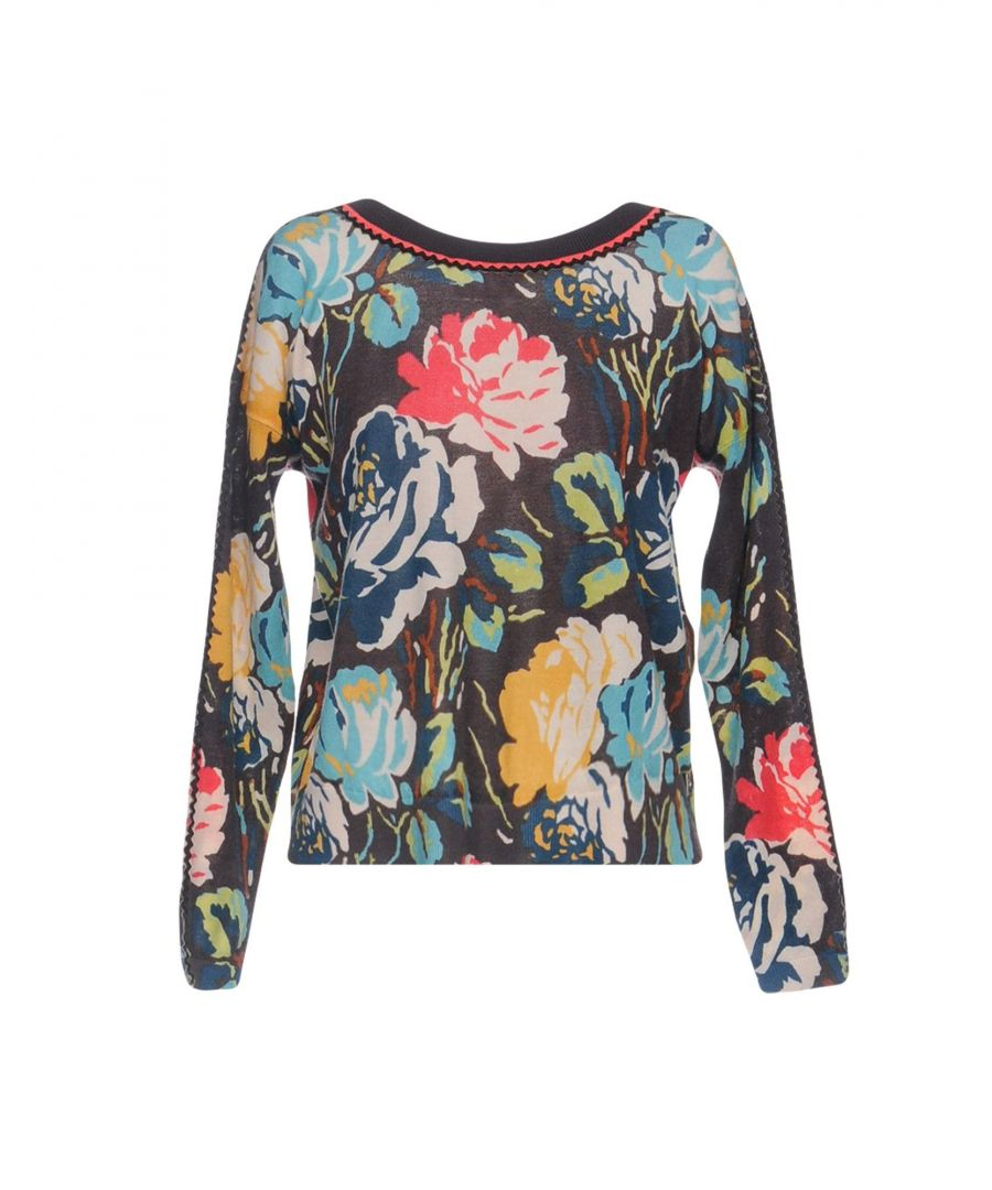 Image for Twinset Dark Brown Floral Print Wool Jumper