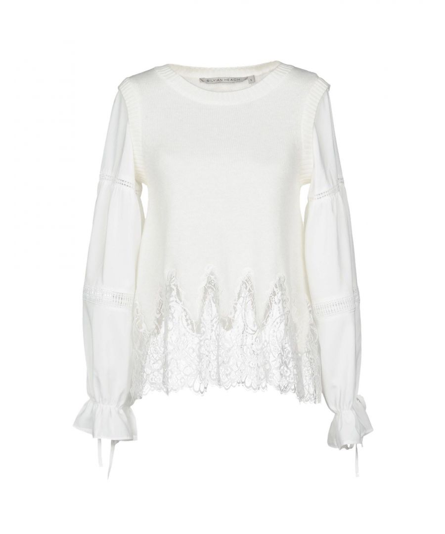 Image for Silvian Heach Ivory Bow Detail Jumper