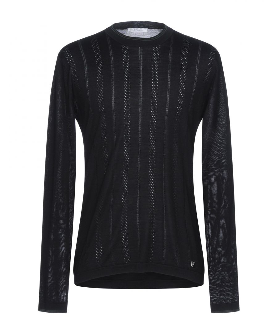 Image for Versace Collection Black Silk Knit Jumper