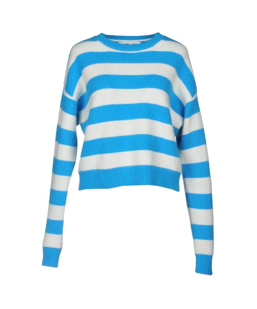 Image for Diane Von Furstenberg Azure Stripe Angora Jumper