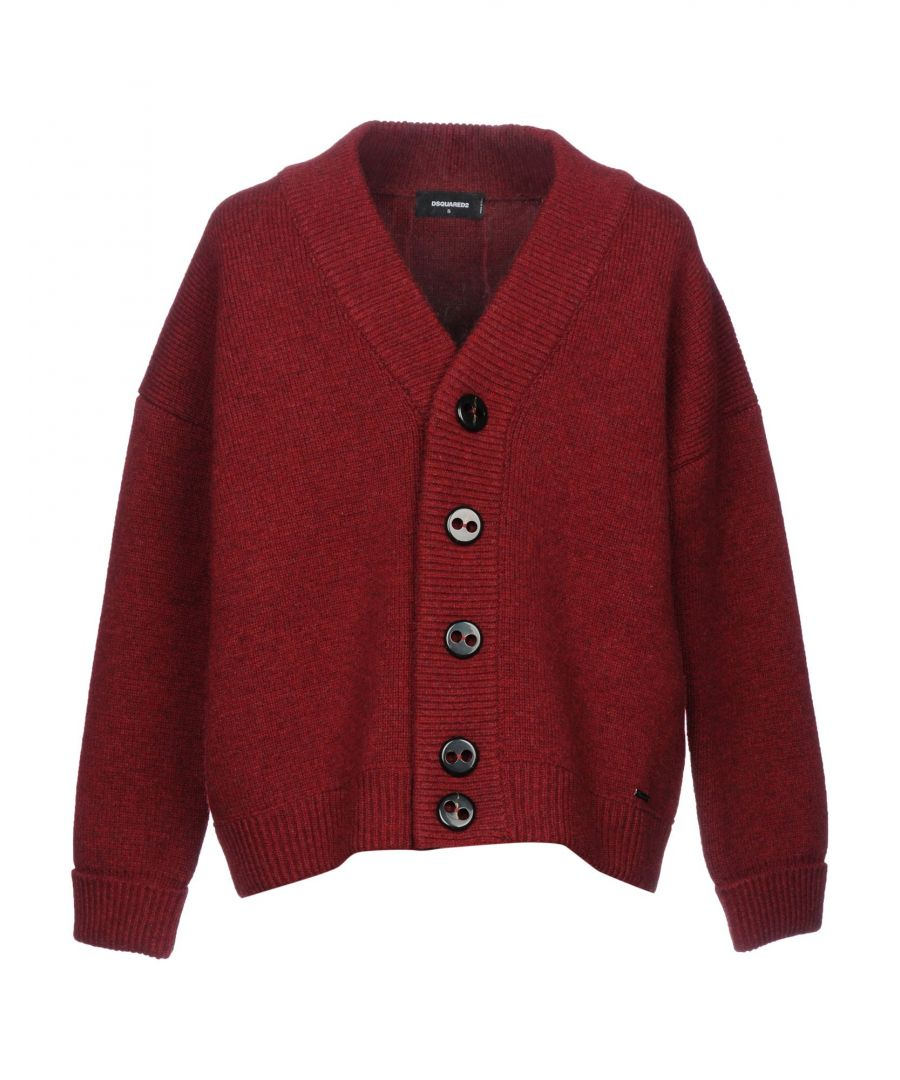 Image for KNITWEAR Man Dsquared2 Maroon Wool