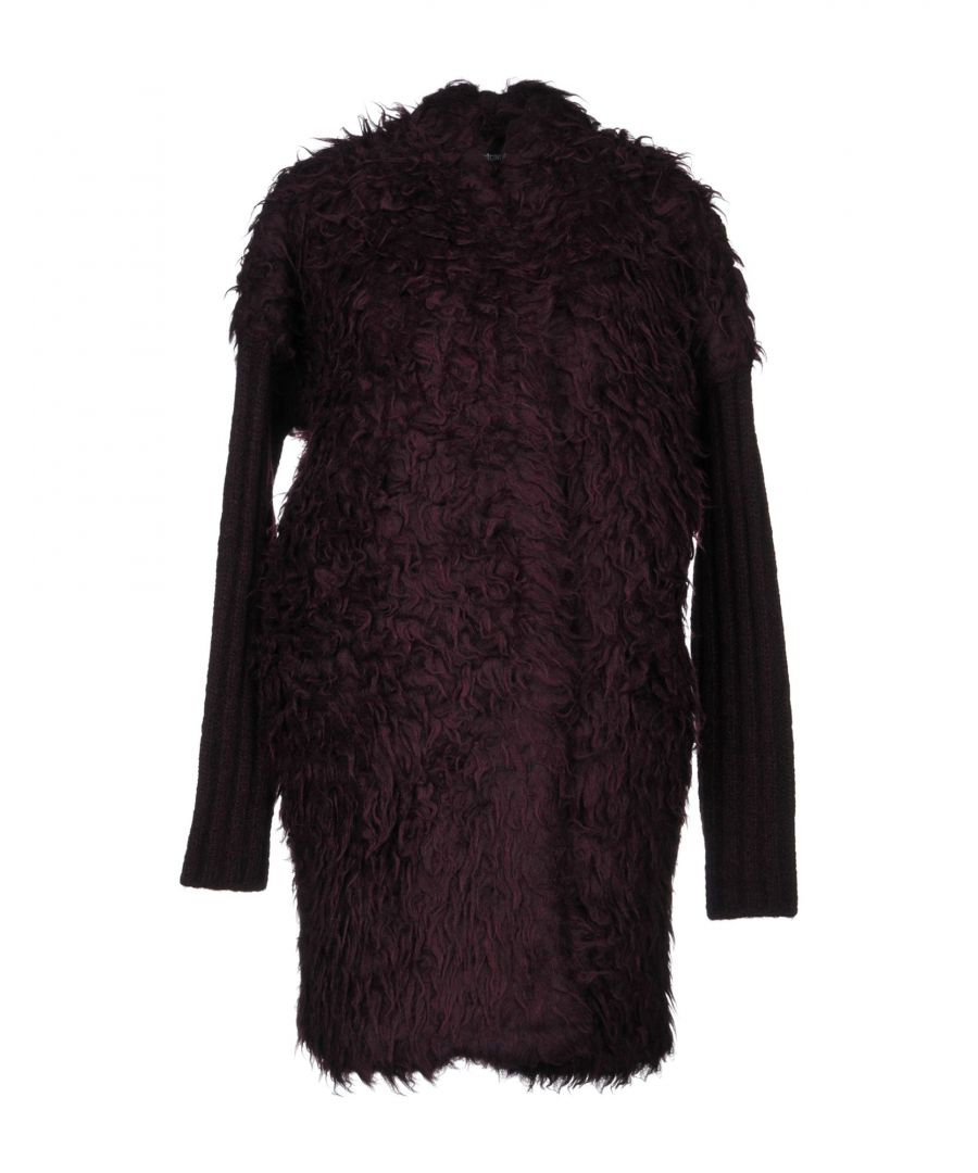 Image for Just Cavalli Deep Purple Alpaca Coat